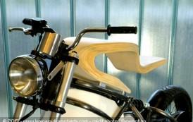 E-Raw, la moto électrique en bois