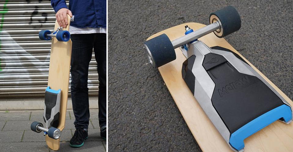 Cet accessoire permet de rendre électrique n'importe quel skateboard !