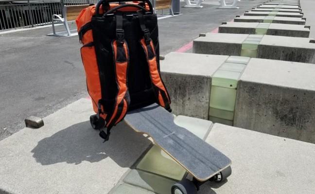 Movpak : le skate électrique / sac à dos
