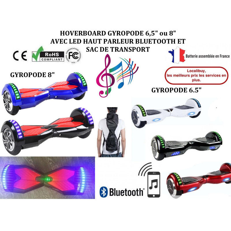 Gyropode Overboard Bluetooth 8 pouces
