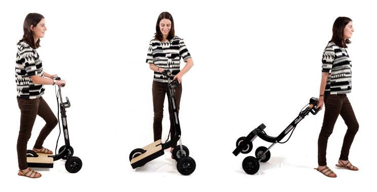 Maestra : la trottinette qui devient chariot en une seconde